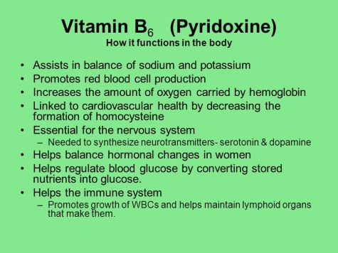 Vitamin+B6+(Pyridoxine)+How+it+functions+in+the+body